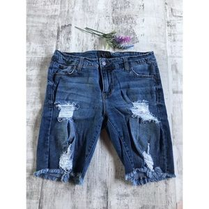 Celebrity Pink Distressed Jean Shorts